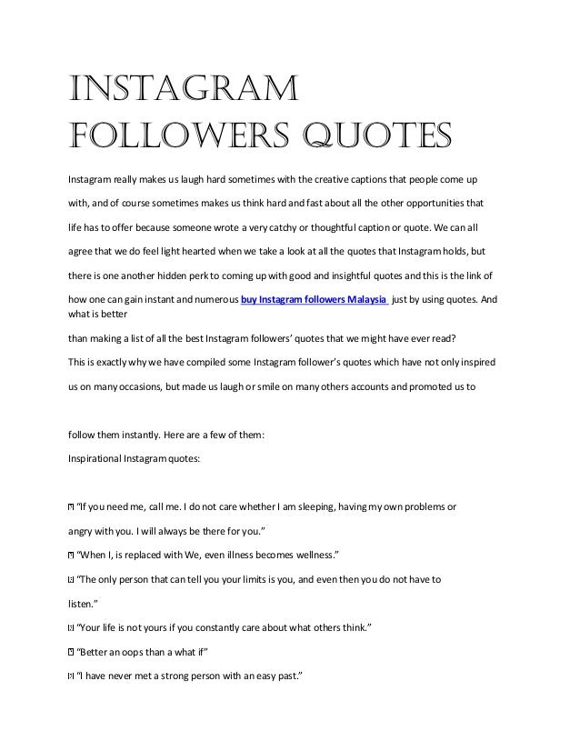 Buy instagram followers quotes