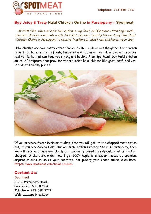 Buy Juicy Tasty Halal Chicken Online In Parsippany Spotmeat