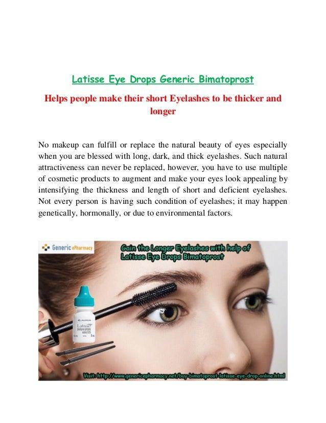 Buy Latisse Online Generic Bimatoprost Eye Drops Without Prescription