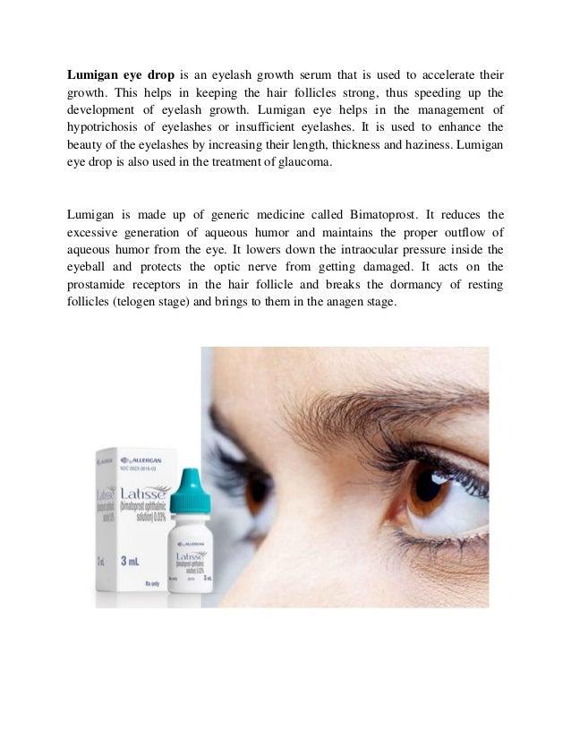 Generic for lumigan eye drops