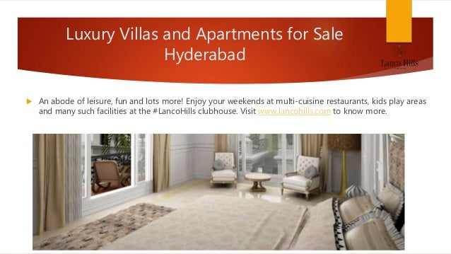 Buy luxury 3 bhk apartments and villas in Hyderabad