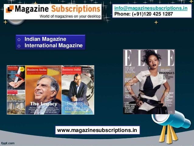 Buy magazine subscription online