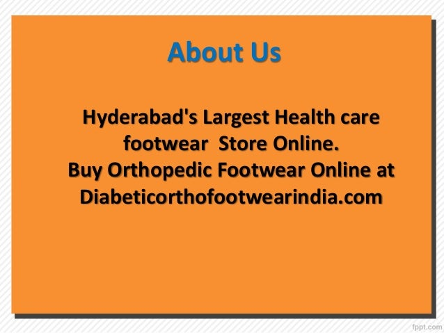 Buy Medical Footwear Online, MCR Footwear in Hyderabad - Diabetic Or…