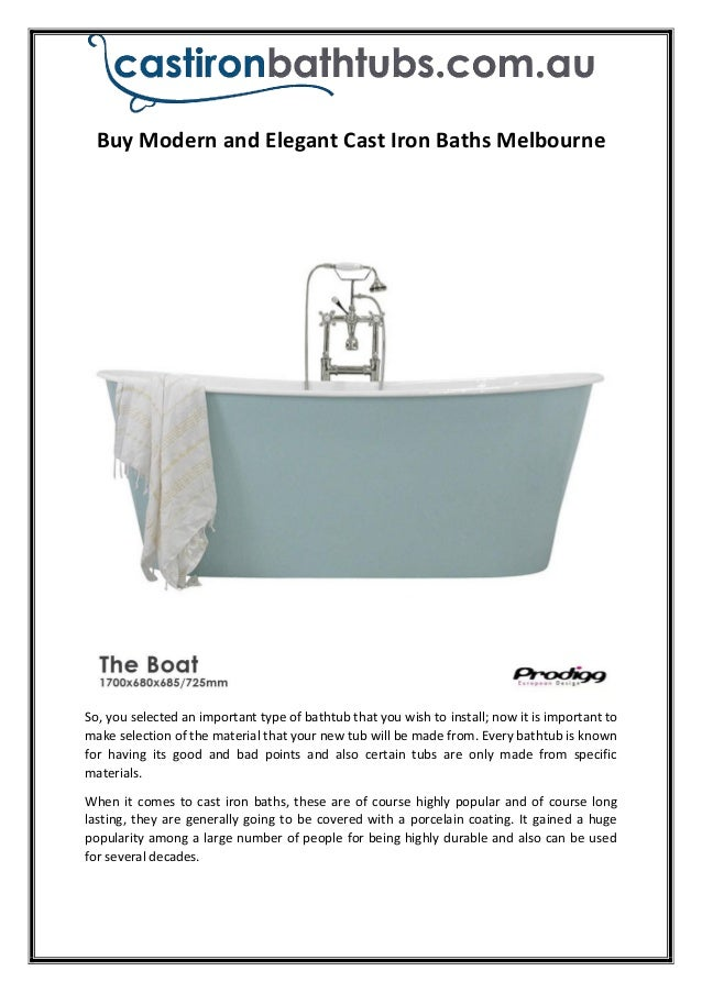 Buy Modern and Elegant Cast Iron Baths Melbourne Castiron Bathtubs