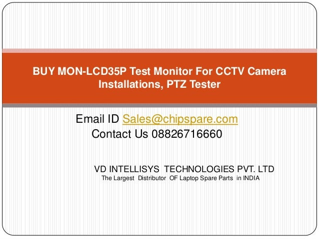 MON-LCD35P Test Monitor For CCTV Camera Installations, PTZ Tester
