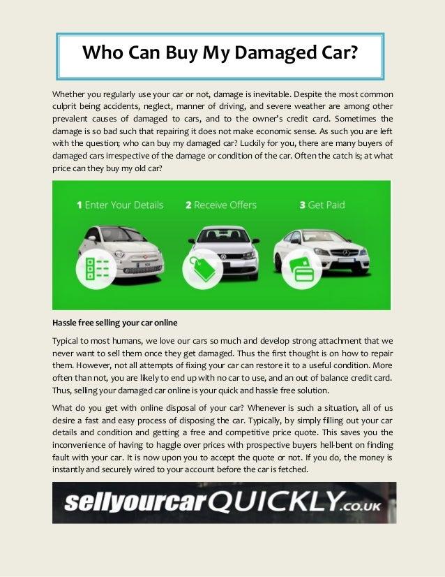 Buy My Damaged Car