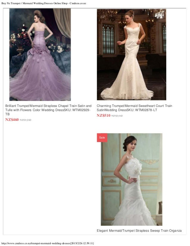 3 Buy Nz Trumpet Mermaid Wedding Dresses