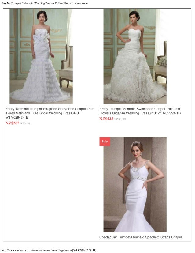 5 Buy Nz Trumpet Mermaid Wedding Dresses