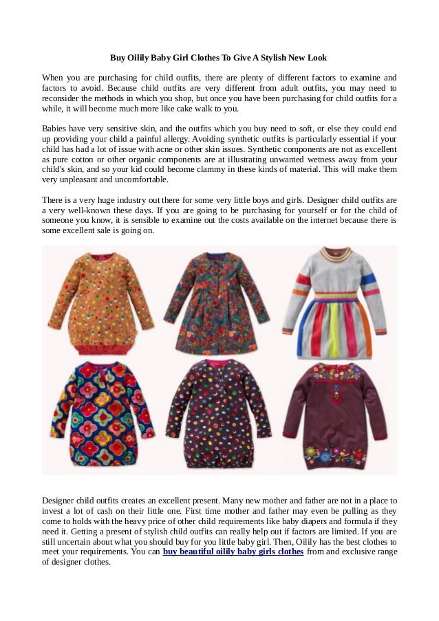 94c4f9dbd3ce Buy Oilily Baby Girl Clothes To Give A Stylish New Look When you are  purchasing for ...