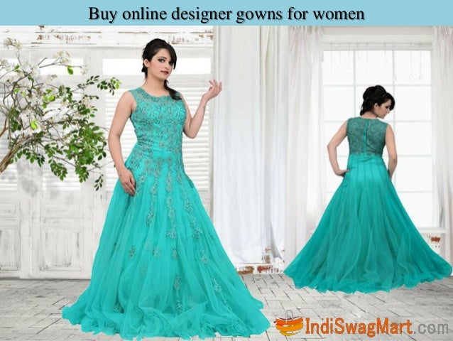 Buy online designer gowns for women