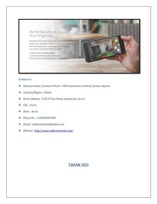 Buy online floodlight cam ghana at vedinvestment com