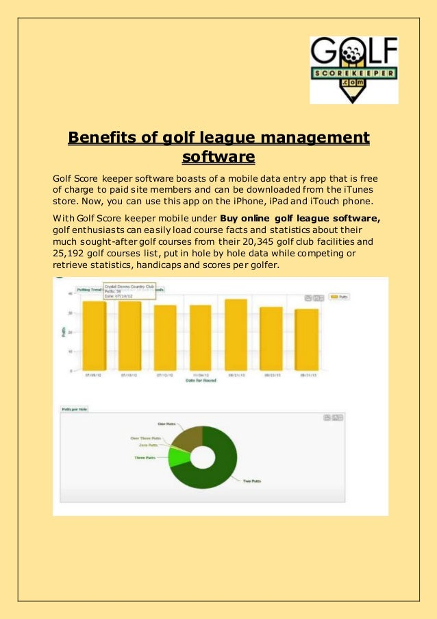 Buy Online Golf League Software