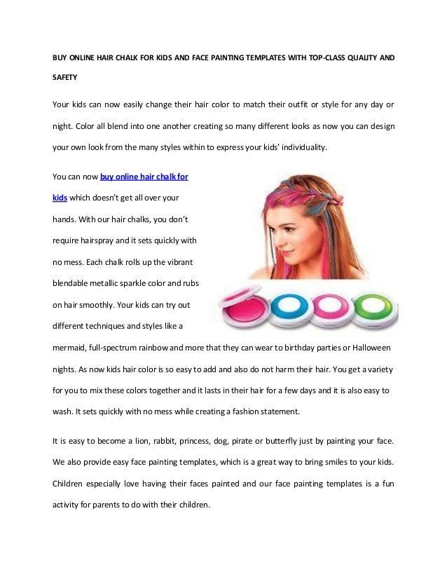 Buy Online Hair Chalk For Kids
