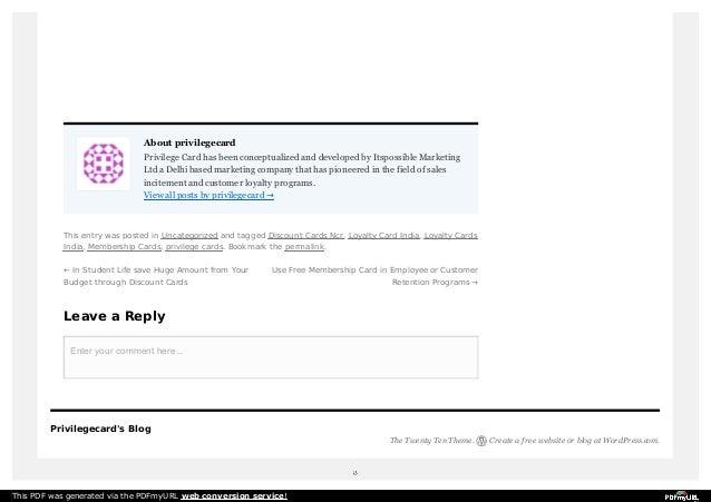 3. About Privilegecard Privilege Card ...  Free Membership Cards Online