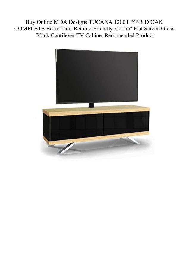 MDA Designs Tucana 1200 Hybrid for up to 55 Inch TV Cabinet in Black /& Walnut