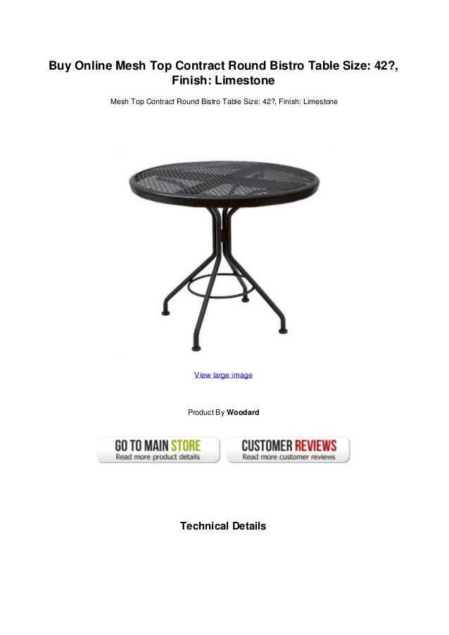 Buy Online Mesh Top Contract Round Bistro Table Size: 42?,Finish:  LimestoneMesh ...