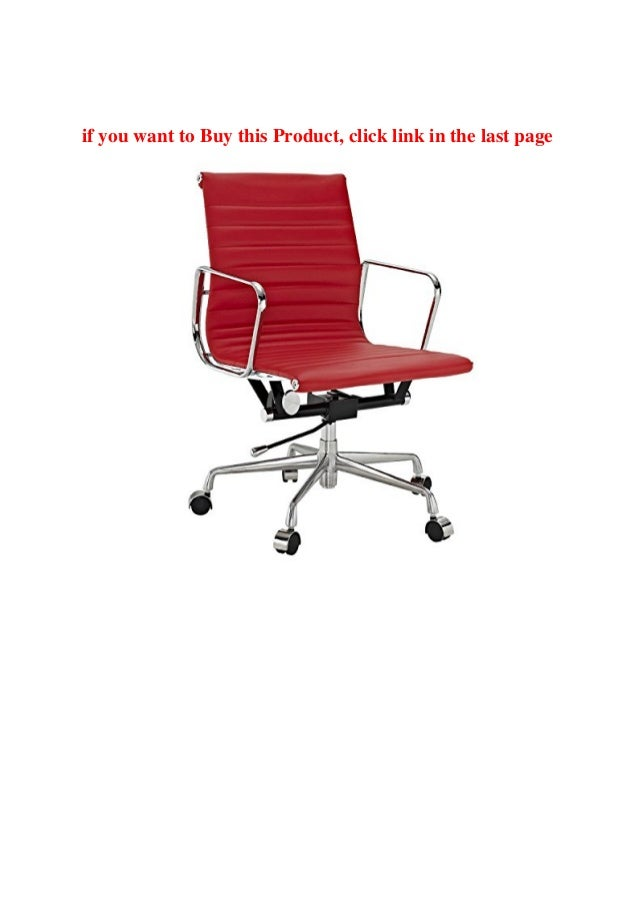 Buy Online Real Red Leather Charles Eames Era Ribbed Office Chair Low