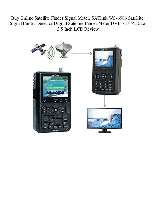 Buy Online Satellite Finder Signal Meter SATlink WS-6906