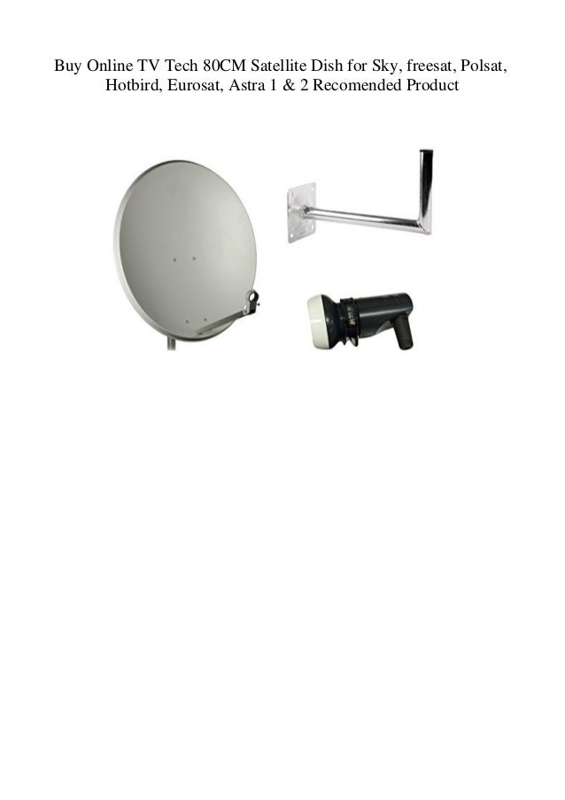 Buy Online TV Tech 80CM Satellite Dish for Sky freesat