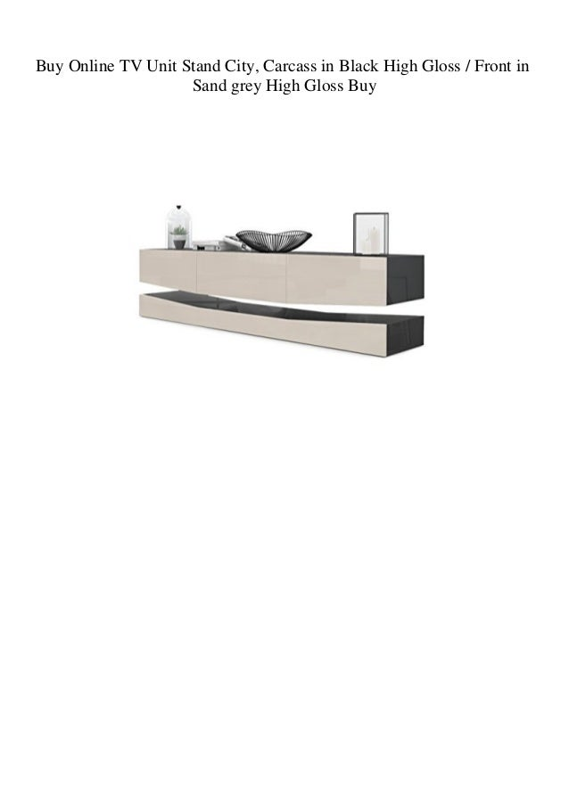Buy Online TV Unit Stand City Carcass in Black High Gloss