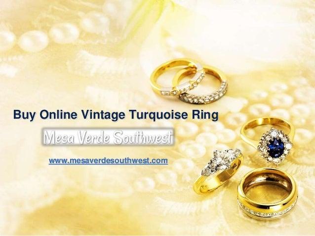 Buy Online Vintage Turquoise Ring www.mesaverdesouthwest.com
