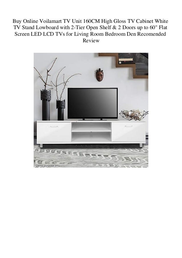 Buy Online Voilamart TV Unit 160CM High Gloss TV Cabinet ...