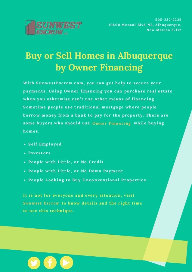 Buy or Sell Homes in Albuquerque by Owner Financing