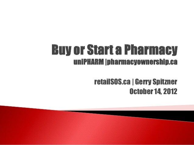 retailSOS.ca | Gerry Spitzner            October 14, 2012
