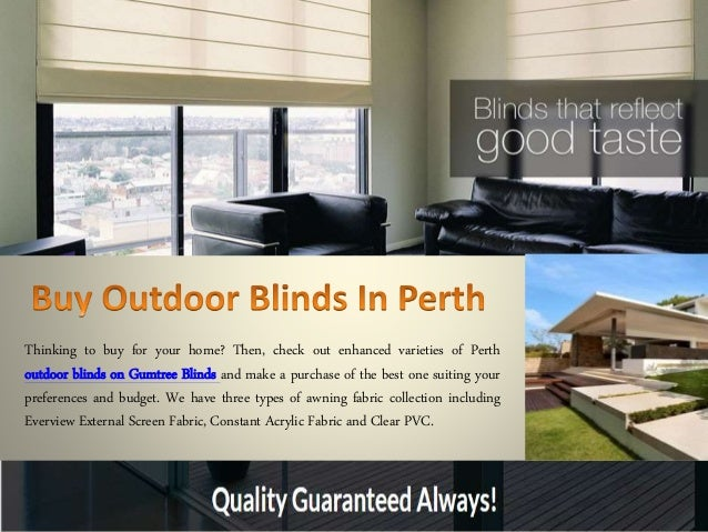 Buy Outdoor Blinds In Perth