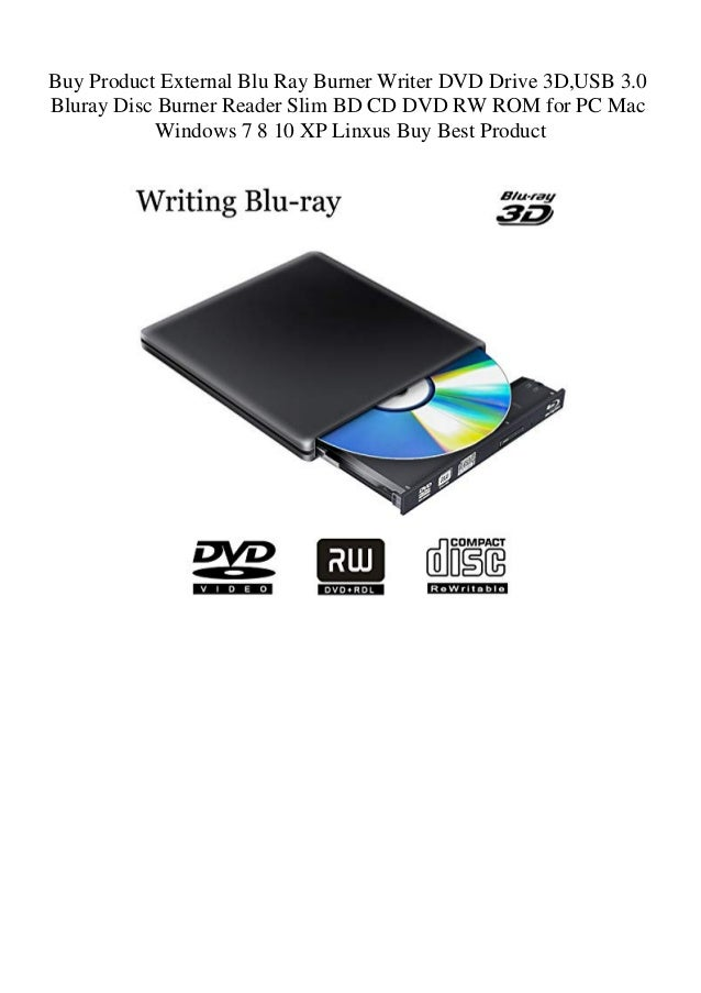 Buy Product External Blu Ray Burner Writer DVD Drive 3D USB