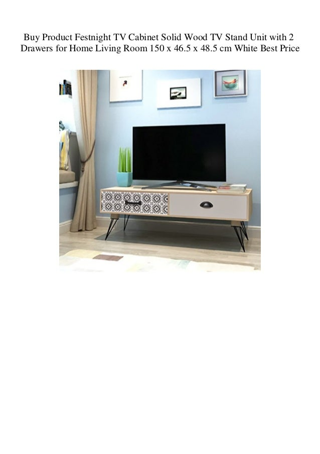 Buy Product Festnight TV Cabinet Solid Wood TV Stand Unit