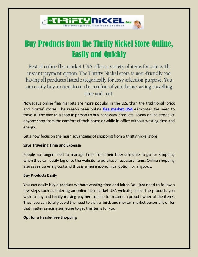 Buy Products from the Thrifty Nickel Store Online, Easily