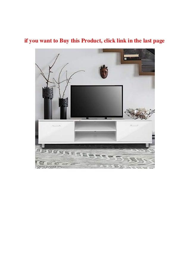 Buy Product Voilamart Tv Unit 160cm High Gloss Tv Cabinet White Tv St