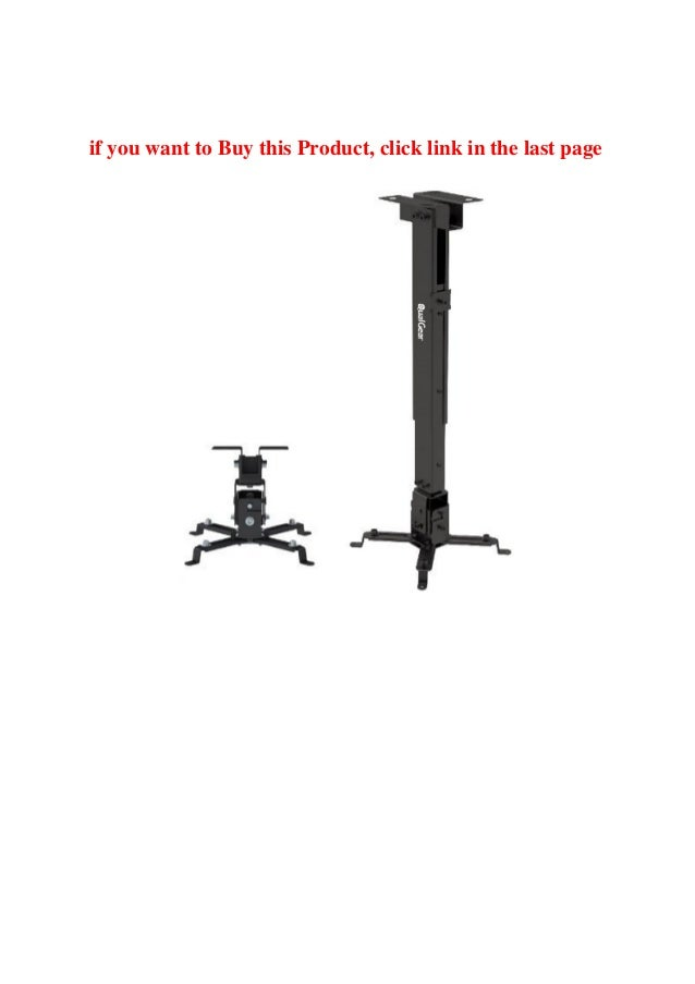 Buy Qualgear Universal Ceiling Mount For Projector Black Review