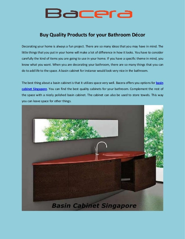 Buy quality products for your bathroom décor