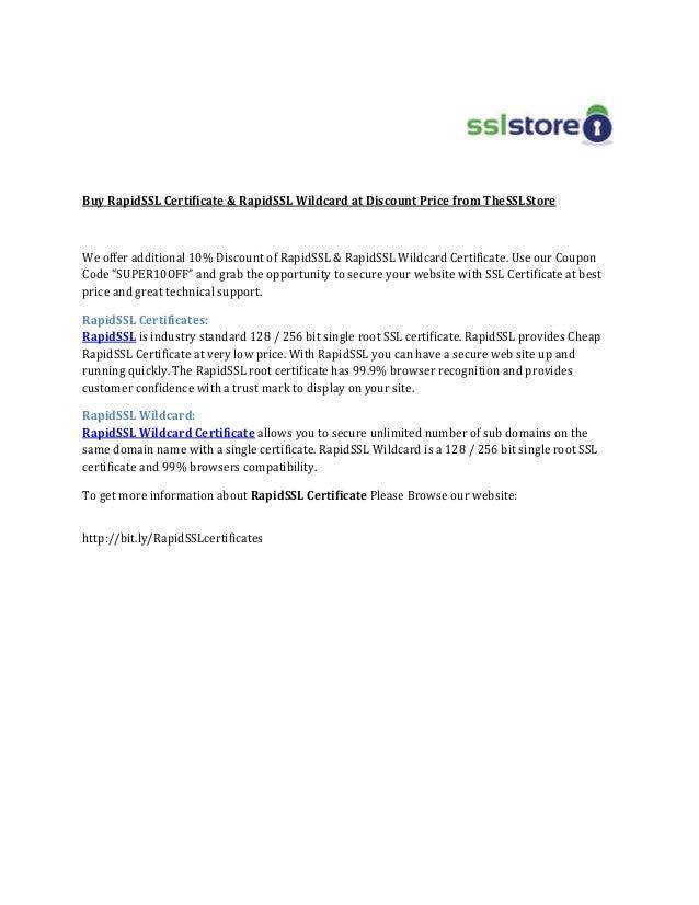 Buy Rapid Ssl Certificate Rapidssl Wildcard At Discount Price From