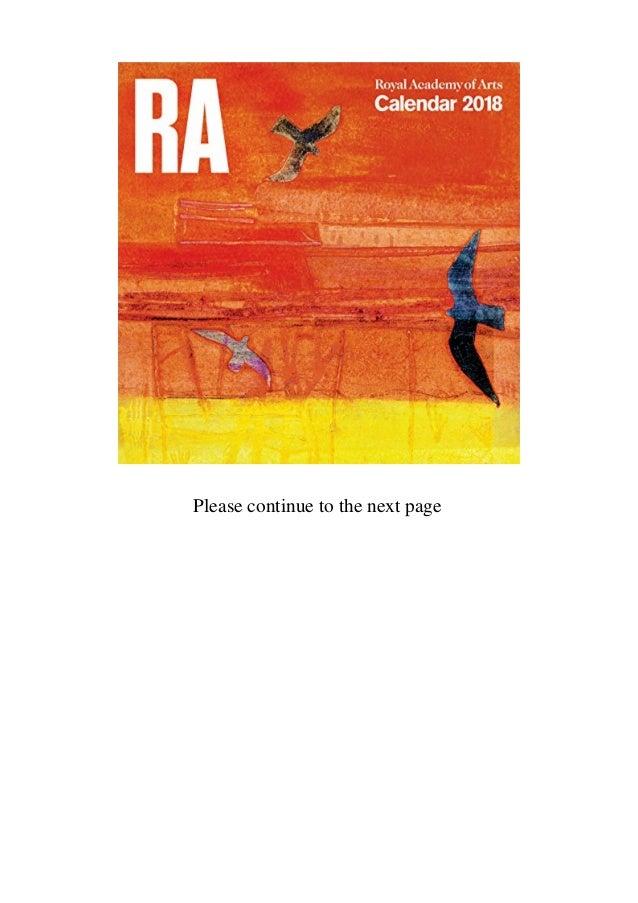 Buy Royal Academy of Arts Wall Calendar 2018 (Art Calendar) Discount
