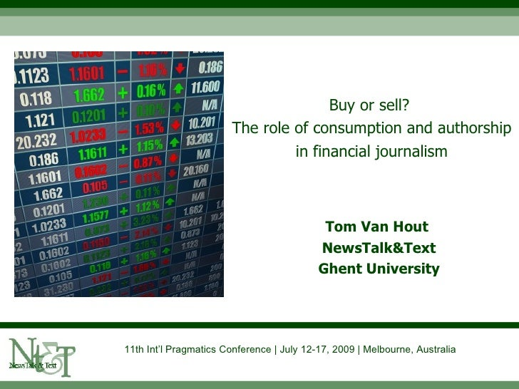 Buy or sell?                         The role of consumption and authorship                                  in financial ...