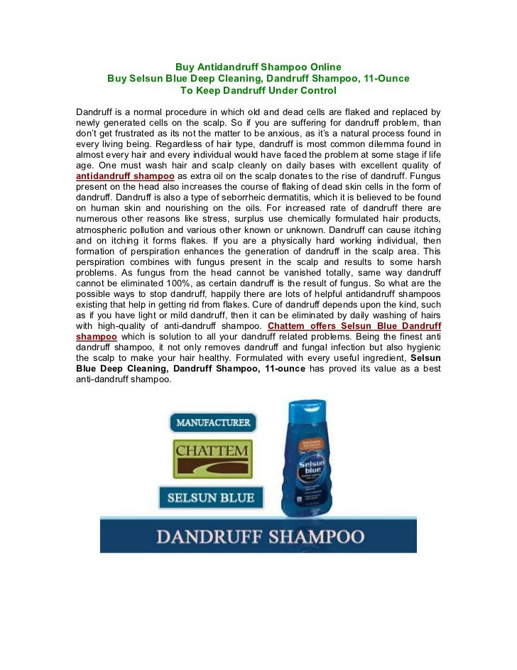 Buy Antidandruff Shampoo Online       Buy Selsun Blue Deep Cleaning, Dandruff Shampoo, 11-Ounce                     To Kee...