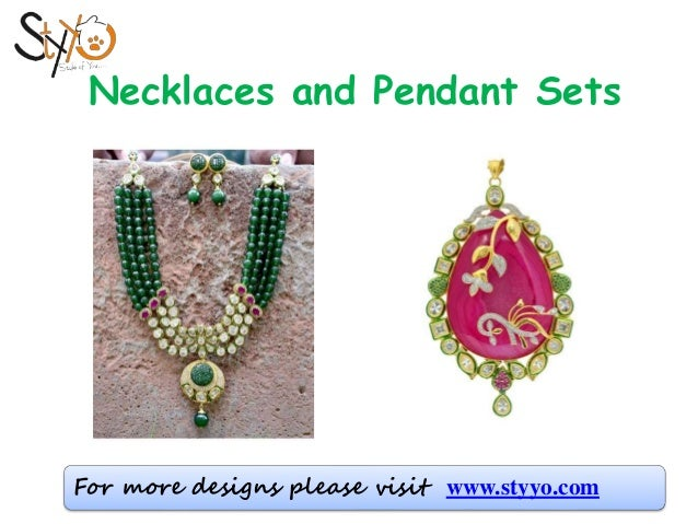 Wonderful Buy Semi Precious Beads Necklace, Pendant set Online - Styyo +91-7073… DR85