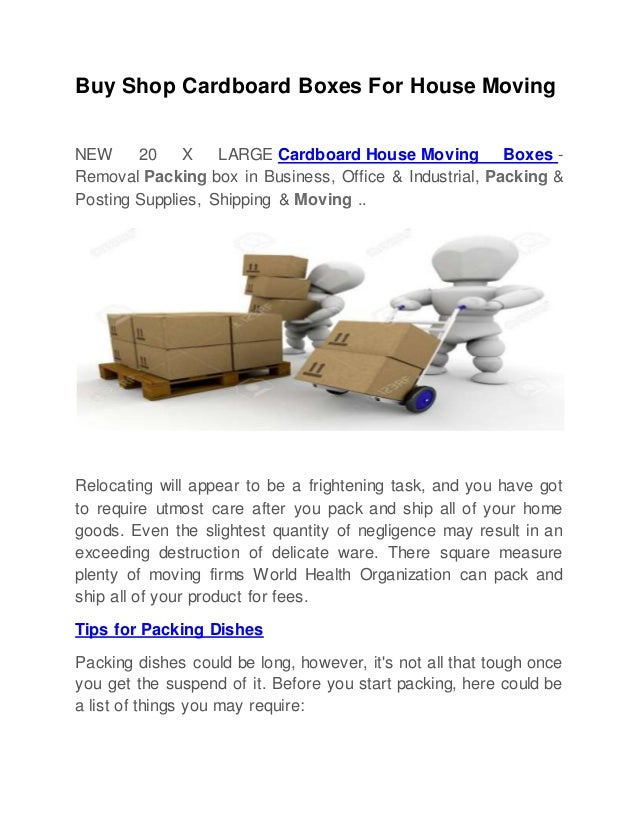 Buy Shop Cardboard Boxes For Moving
