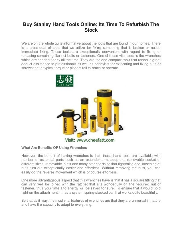 Buy stanley hand tools online its time to refurbish the stock