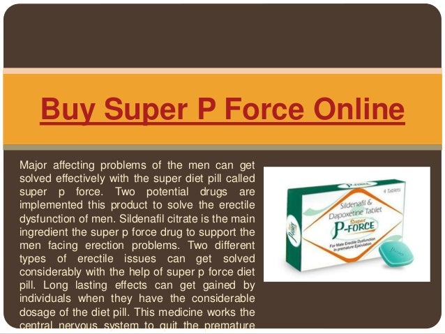 Buy Super P Force Pills