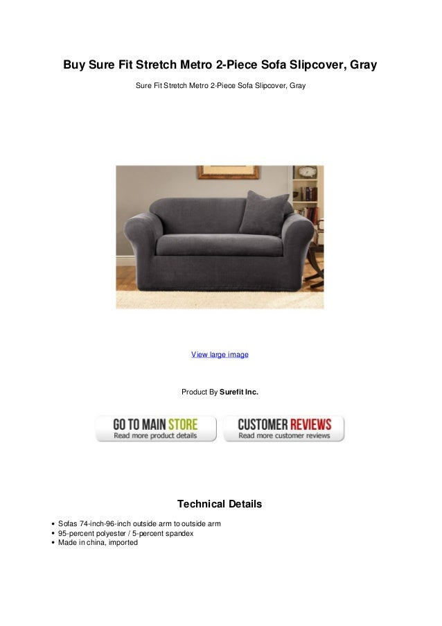 Buy Sure Fit Stretch Metro 2 Piece Sofa Slipcover Gray