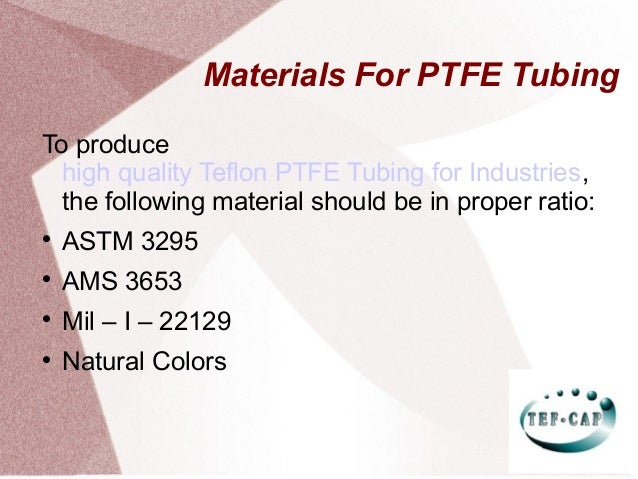 Buy Teflon PTFE Tubing by Tef Cap Industries