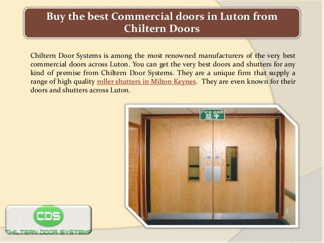 Buy The Best Commercial Doors In Luton From Chiltern Doors Chiltern Door  Systems Is Among The ...