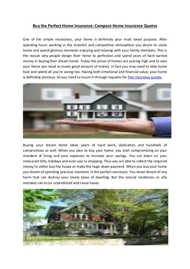 Buy The Perfect Home Insurance Compare Home Insurance Quotes