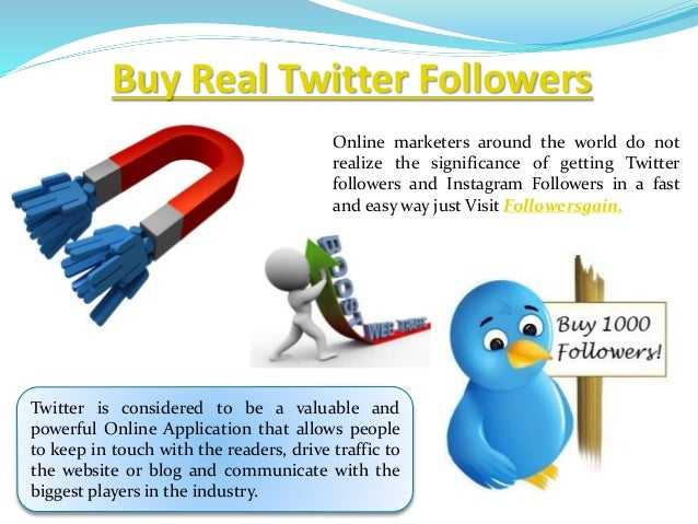 Buy real Twitter followers For Free trail Followersgain