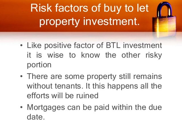 • the decline of market, causes fall of the property value which is loss for the landlord. • The landlord also suffers fro...