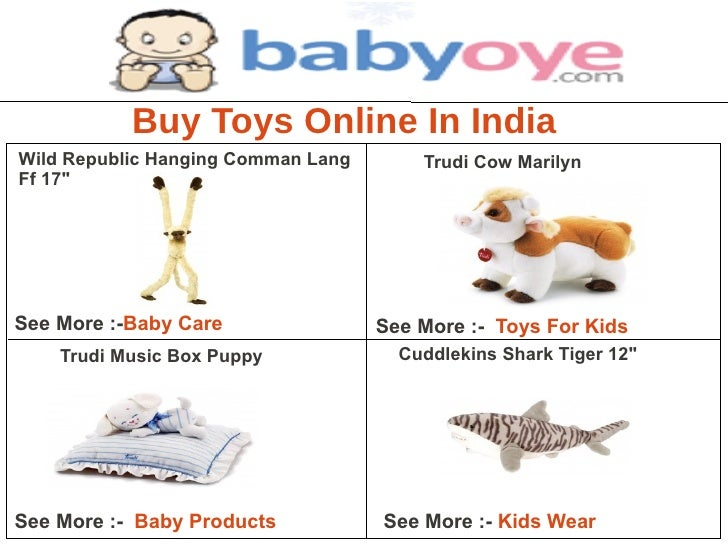 """Buy Toys Online In IndiaWild Republic Hanging Comman Lang       Trudi Cow MarilynFf 17""""See More :-Baby Care               ..."""
